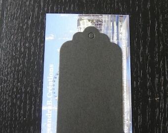 Black labels: 5 labels 7 x 4 cm
