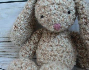Crochet Floppy Stuffed Bunny Rabbit Animal Toy | Made to order