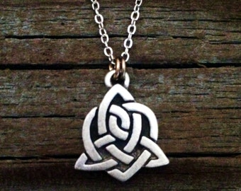 Celtic Sister Knot Necklace   Celtic Jewelry   Irish Jewelry   Scottish Jewelry   Handcrafted Jewelry   Fine Pewter by Treasure Cast
