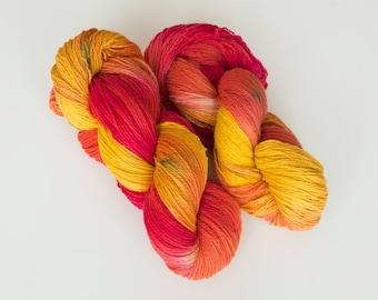 Hand Dyed Yarn Wool Yarn For Knitting , Gradient Yarn, Worsted Sock Yarn 2 Ply 400g (14oz) 100% Wool Yarn, 2 Skeins