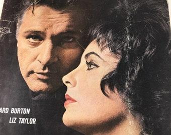 Life Magazine, Richard Burton and Elizabeth Taylor, Cleopatra, April 19, 1963