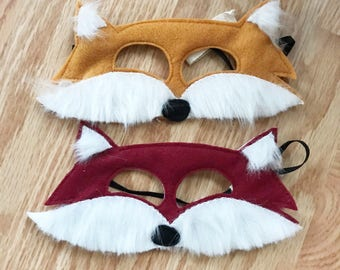 Happy Fox felt mask