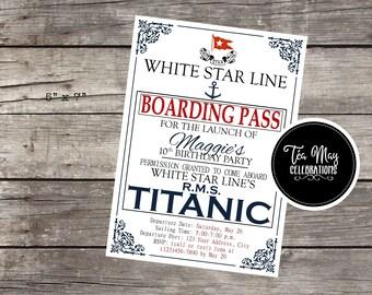 Titanic Ship Nautical Customized Birthday Invitation