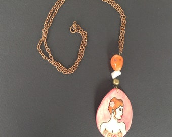 "Necklace ""Women of the world"" retro"