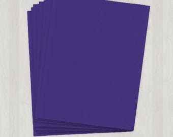 10 Sheets of Text Paper - Purple - DIY Invitations - Paper for Weddings & Other Events