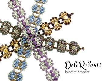 Fanfare Bracelet beaded pattern tutorial by Deb Roberti
