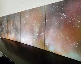 Abstract Space Wall Art - Celestial Art  - Outer Space Art - Galaxy- Hospitality Art - Hotel Decor - Corporate Art