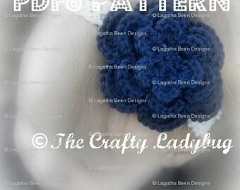 Super easy crochet flower pattern - 2 designs - 1 pattern - PDF6 instant download