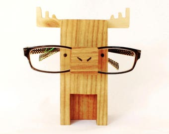 Moose Eyeglass Stand / Glasses Holder Perfect Gift For Moose Lovers