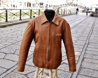 Leather jacket Brown Tobacco Avirex Original size XL