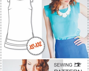 Beginner Top Patterns - PDF Sewing Patterns