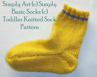 Simply Art (c) Simply Basic Socks (c) Knitted Toddler Sock Pattern