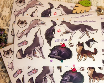 Cute Wild Wolfies stickers #16