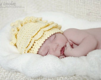Newborn Crochet Hat Pattern: Baby Beanie, Newborn Photo Prop, 'Wiggle Giggle' For Girls & Boys,