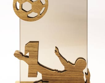 Set of 3 Football Trophies *Glass engraving included*