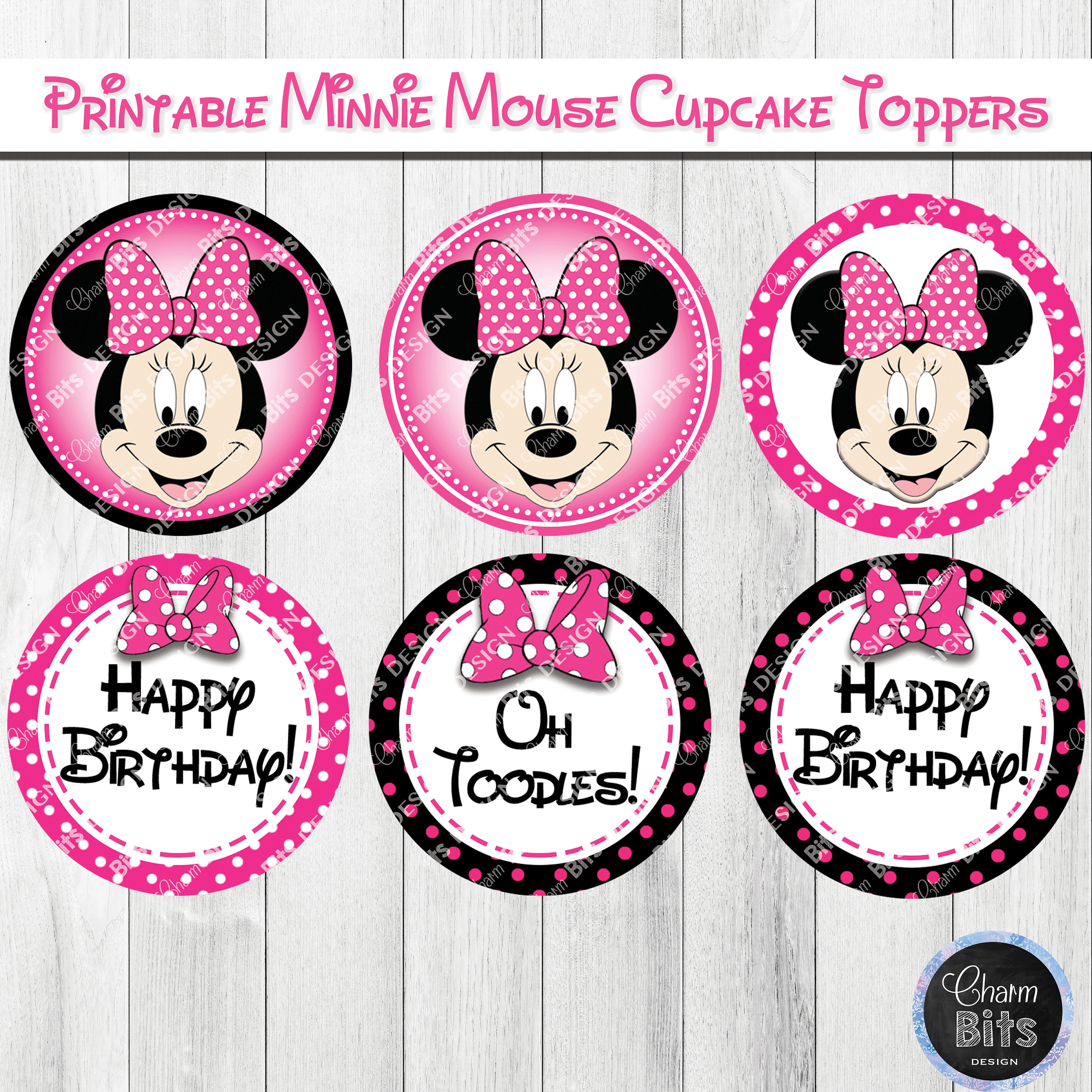 minnie mouse cake topper pink minnie mouse cupcake toppers minnie mouse cake topper 5944