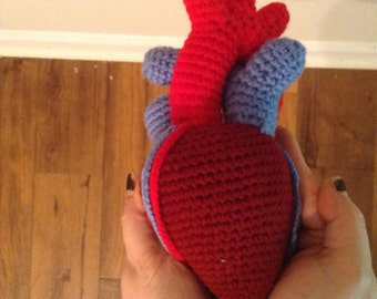 MADE TO ORDER -Anatomical human heart plush