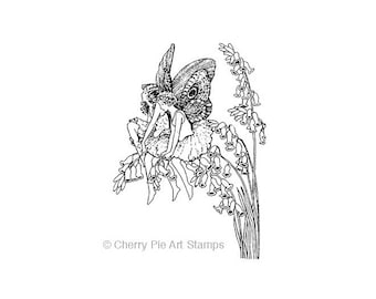 Foxglove FAIRIES - CLING RuBBer STAMP by Cherry Pie R528