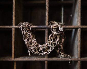 Vintage Clustered Chain link statement Necklace