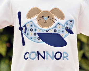 Personalized Easter Bunny Airplane Kids Tshirt