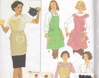 Simplicity 5961 Misses One Yard APRON Pattern Designed by Teri RETRO Style One Size Womens Sewing Pattern UNCUT