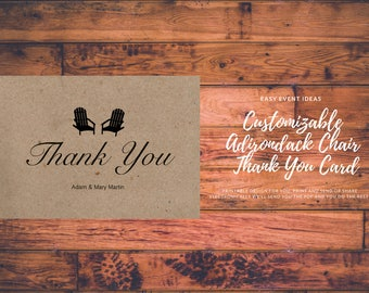 Adirondack Chair Thank You Cards