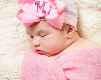Newborn hat, newborn hospital hat with bow, newborn girl, newborn girl hat, hospital newborn hat, newborn hat, baby hat, her first bow