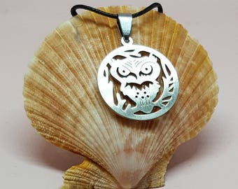 Circle Owl Necklace