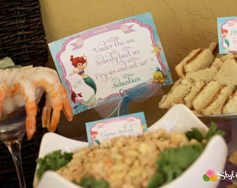 Mermaid Table Signs - Instant Downloads