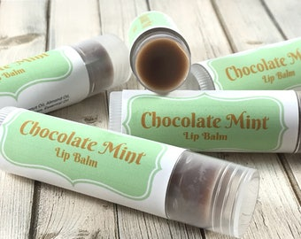 Chocolate Mint Chapstick | Just Because Gift | Beeswax Lip Balm | Mint Lip Balm | Lip Butter | Chocolate Lip Balm | Birthday Gift
