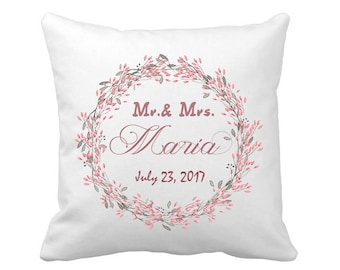 Wedding Pillows, Personalized Wedding Pillow Cover, Mr. and Mrs. Pillow Cover, Unique wedding gift for couple, Anniversary Gift Wedding Gift