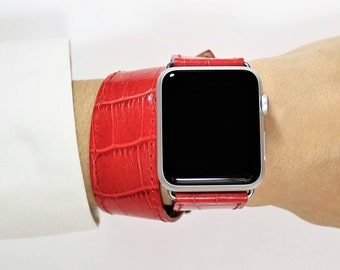 Double Tour Apple Watch Band - Double Tour Apple Band - Apple Watch Band 42mm - watch series - Band 38mm - Double Wrap Apple - Made in Italy