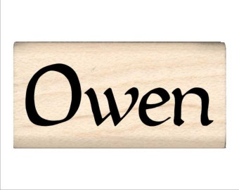 Owen - Name Rubber Stamp for Kids