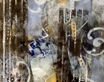 Passage, mixed media, 36x26 cm, framed, 2018