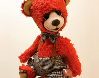 Teddy bear Patrik, red, love