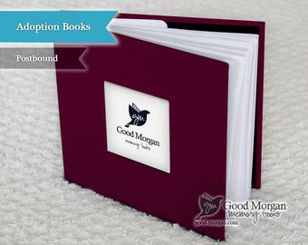 Adopted Baby Memory Book - Plum