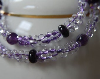 Natural Amethyst Necklace Purple Necklace