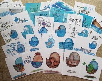 Streams of Hope journal kit,tip-ins,cards,birds,Lent,Easter,waves, Jesus,scripture,faith,prayer,spring,inspirational,handmade,hand drawn