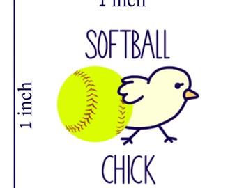 Three Same Sports Chick Stickers