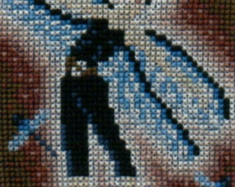 Dragonfly Fairy counted cross-stitch chart