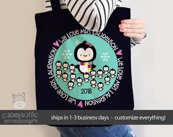 teacher tote bag - adorable teacher tote good for kindergarten, first grade, any grade - teacher christmas gift MSCL-036
