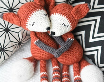 PATTERN - Mystique the Fox - crochet amigurumi pattern, PDF (English)