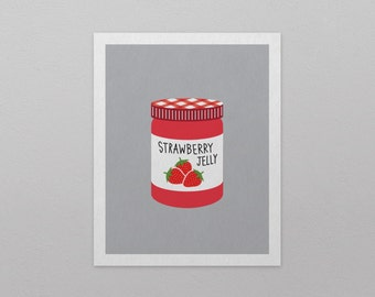 "Strawberry Jelly Art Print (8"" x 10"")"
