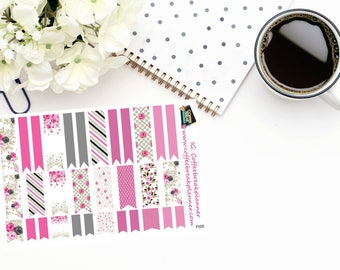 Planner Sticker|Rose Garden Decorative Page Flag Stickers|Page Flag Stickers|For use in a variety of planners and journals|F025