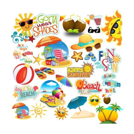 instant download summer party beach party pop art text beach rh etsystudio com beach party images clip art beach party invitation clip art