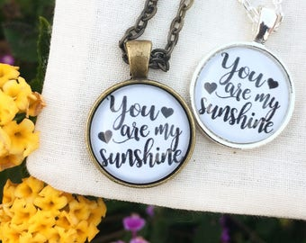 You are My Sunshine Mini Necklace