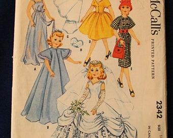 Vintage McCalls High Heel Fashion Doll Pattern 2342