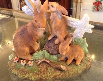 Ceramic Bunny Family