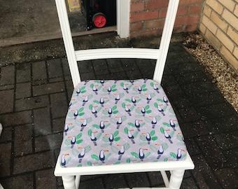 White Shabby Chic 'Toucan' design chair