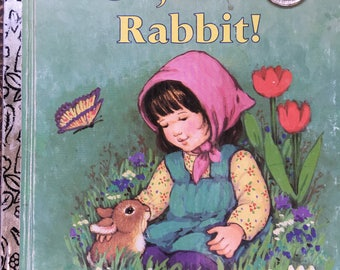 """Oh, Little Rabbit!  Little Golden Book by Joan M Lexau Copyright 1989  """"B"""" Edition Great Condition #304-50 - Golden Book Luv"""